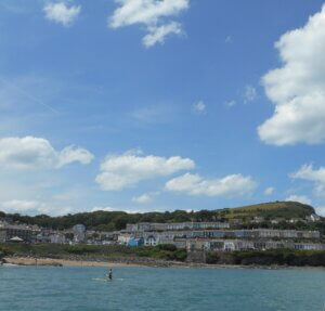 New Quay viewed from the sea